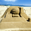 Novel sand sculpture at Fulong Beach — Stock Photo