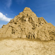 Transformer sand sculpture — Stock Photo