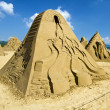 Novel sand sculpture in Fulong Beach — Stock Photo
