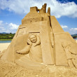 My Home sand sculpture — Stock Photo