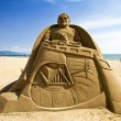 Star Wars Trilogy sand sculpture — Stock Photo