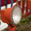 Red old street lamp — Stock Photo