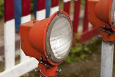 Red old street lamp — Stockfoto