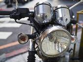 Motorrad scheinwerfer — Stockfoto