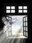 未来的窗口 — 图库照片