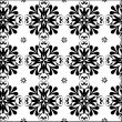 Simple black and white abstract floral pattern - Stock Vector