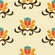 Retro abstract floral pattern - Stock Vector