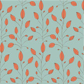 Vintage seamless pattern with orange plant — Stock Vector