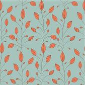 Vendimia de patrones sin fisuras con la planta naranja — Vector de stock