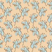 бесшовный узор с милой цветок рисованной — Cтоковый вектор
