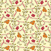 Hand drawn seamless pattern with little colorful flowers — Vettoriale Stock