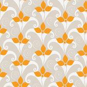 Ziemlich nahtlose muster mit orangen blüten — Stockvektor