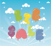 Big sale vector illustration with balloons — Stock Vector
