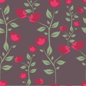 Pretty floral pattern with big pink flower — Stock Vector