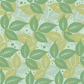 Groene bladeren bloemmotief — Stockvector