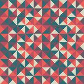 抽象的な三角形の付いたカラフルなシームレス パターン — ストックベクタ