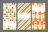 Set of cards with geometric pattern — Vector de stock