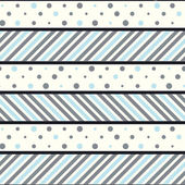 Pretty seamless pattern with circles and stripes — Stockvektor
