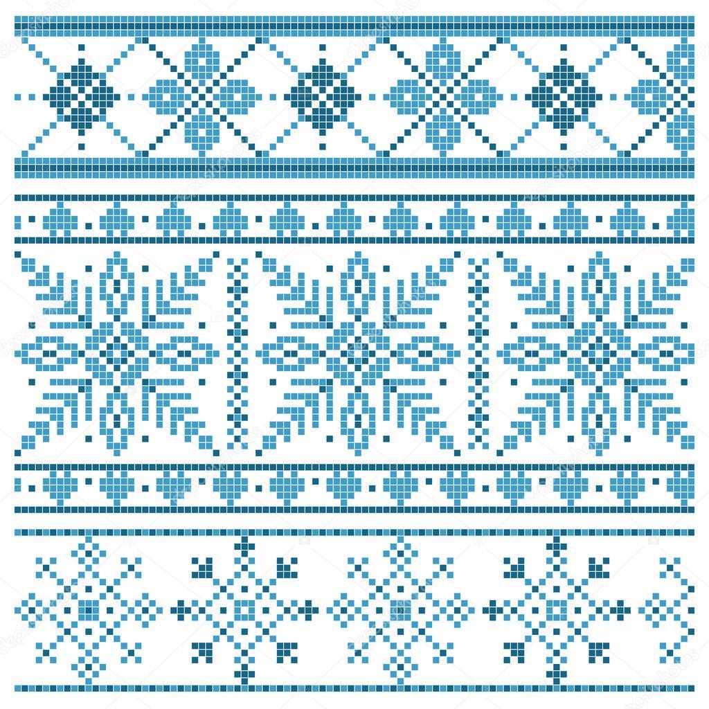 Жаккардовый узор снежинка схема