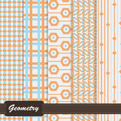 Set of pretty colorful seamless patterns — Stock Vector