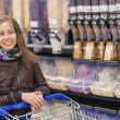 Royalty-Free Stock Photo: Young girl in a supermarket