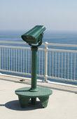 Green tourist telescope — Stock Photo