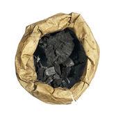Naturalny węgiel drzewny w koperty papierowe — Zdjęcie stockowe