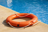 Buoy and swimming pool — Stock Photo