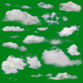 White clouds isolated — Stock Photo