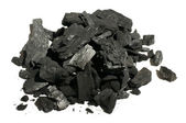 Natural charcoal close up — Stock Photo