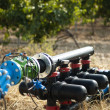 Stock Photo: Water pumps for irrigation of vineyards