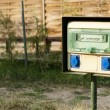 Electric panel in camping — Foto Stock