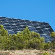 Solar panels on the mountain — Stock Photo #13804674