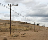 Old electric poles — Stock Photo