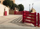 Running of the Bulls fences — Stock Photo