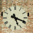Antique clock on a building. — Stock Photo