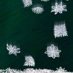 Origami falling snowflakes — Stock Photo
