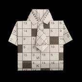 Camicia piegata stile origami — Foto Stock