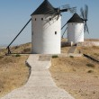 White ancient windmills — Stock Photo