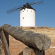 White ancient windmill — Stock Photo