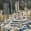 Stock Photo: Yachts moored in Monaco