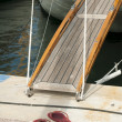 Yacht boarding ladder - Stock Photo