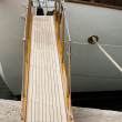 Yacht boarding ladder — Stock Photo #14144986