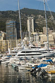 Yachts moored in Monaco — Stock Photo