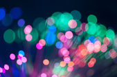 Festive lights and circles. Christmas background — Stock Photo