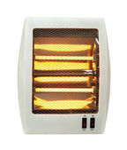 Electric heater white isolated — Stock Photo