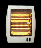 Electric heater black isolated — Stock Photo