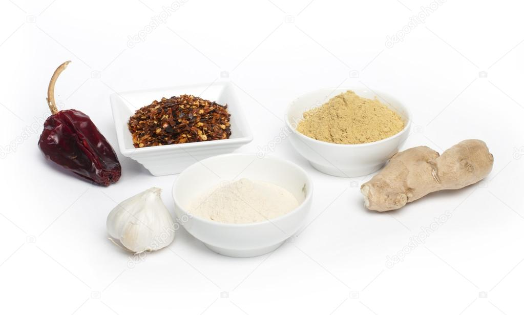 Ground Pepper Ground Red Pepper Ginger And