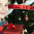 Happy child receive the gift of Christmas — Stock Photo #16946775