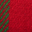 Handmade knit green and red background — Stock Photo #16947865